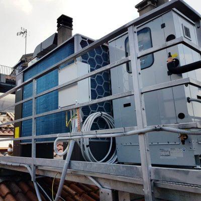 Pompa di calore aria acqua unità esterna 2
