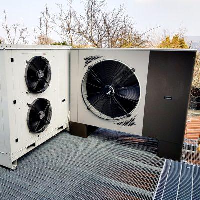 Pompa di calore aria acqua unità esterna 3