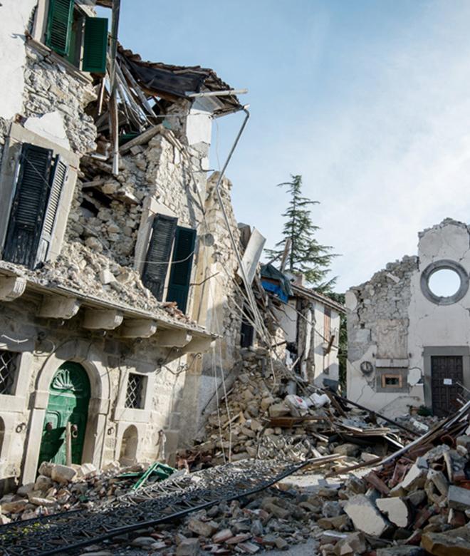 Case distrutte dal sisma